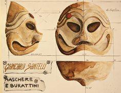 Arlechino mask by Giancarlo Santelli