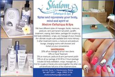 Shalom Esthetique & Spa - Relax, rejuvenate your mind, body and spirit. Tel: 467 2591 / 5982 3136