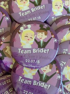 Wicked bride and groom badges to add that extra sparkle to your wedding!
