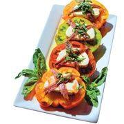 Mozzarella and tomato caprese salad. Recipe courtesy of Chef/owner Dominic Mercurio of Café Fina in Monterey
