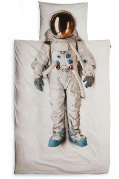One giant leap into bed...