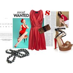 Red Dress, created by belldraw on Polyvore