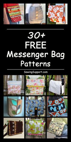 Free Messenger Bag Patterns : Over 30 Free Messenger bag sewing patterns, tutorials, and diy projects. Kids and adult cross body styles, large and small bags. Lots of instruction for how to make messenger bags. Messenger Bag Patterns, Bag Patterns To Sew, Sewing Patterns Free, Free Sewing, Messenger Bags, Handbag Patterns, Sewing Hacks, Sewing Tutorials, Sewing Tips