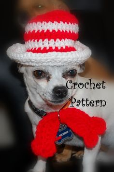 could use for any top hat pattern - Posh Pooch Designs Dog Clothes: Cat.... UM.... Dog in The Hat Crochet Pattern