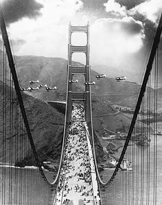 Opening day of the Golden Gate Bridge on May 27, 1937.