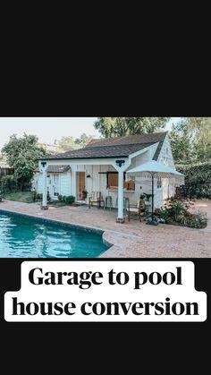 Pool House Designs, Backyard Pool Designs, Small Backyard Design, Small Backyard Patio, Backyard Ideas, Backyard Landscaping, Patio Ideas, Landscaping Ideas, Panama City Beach Florida