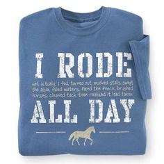 View All Sweatshirts & Tees for Horse Lovers and a Western Lifestyle - Shop for View All Sweatshirts & Tees Today Westerns, Horseback Riding Outfits, Horse Sweatshirts, Country Wear, Lifestyle Shop, Equestrian Outfits, Old T Shirts, Dye T Shirt, Decoration
