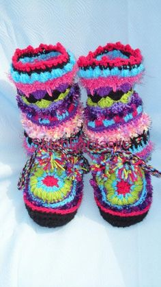 Fantasy Moccasin Slipper by StitchFantastic   Crocheting Pattern - Looking for your next project? You're going to love Fantasy Moccasin Slipper by designer StitchFantastic. - via @Craftsy
