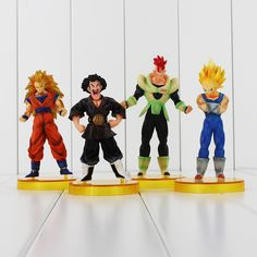 4pcs/set Dragon Ball Goku Son Vegeta Figurines PVC Action Figures Toys Collection Dolls Children's Day Gifts For Kids #Affiliate