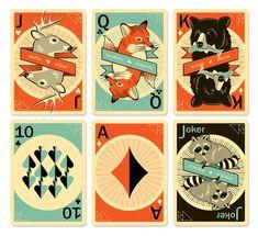 Detail of Pocono Modern playing cards Kickstarter campaign.