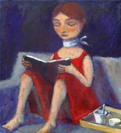 Breakfast with reading / Desayuno con lectura (ilustración de Alexander Sokht)