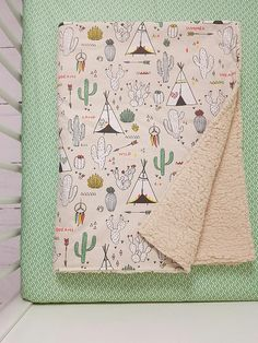 cacti crib bedding - tribal crib bedding - cacti crib blanket - cactus crib bedding - cacti nursery set - cacti and teepee crib - tribal bed Welcome Gifts, Welcome Baby, Mosses Basket, Baby Shower Gifts, Baby Gifts, Cot Sheets, Crib Blanket, Crib Bedding Sets, Beautiful Gift Boxes