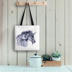 Fae Friends Tote Bag Fairy Unicorn Drawing by GingerKellyStudio Unicorn Drawing, Eco Friendly Bags, Illustration Art, Illustrations, Fantasy Art, Reusable Tote Bags, Fairy, Unique Jewelry, Handmade Gifts