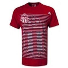 Toronto FC Adidas t-shirt NWT Soccer Canada U-Sector Red Patch Boys Football