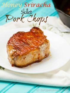 Honey Sriracha Skillet Pork Chops