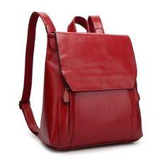 9a62d645c0b2 Las palmas rubinvörös valódi bőr női hátizsák. BőrtáskaBőrTáska