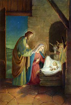 Scriptural Joyful Mysteries of the Scriptural Rosary Christmas Scenes, Christmas Nativity, Christmas Images, Merry Christmas, Christmas Bells, Christmas Greetings, Christmas Time, Scriptural Rosary, La Résurrection Du Christ