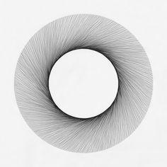 ●●●●●●●● Drawing by Cyril Galmiche #line #circle #drawing #circuler #round  #geometric #screenprinting #dessin #minimalism #worksonpaper #Handmade #Bw #Blackandwhite #circular