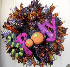 Halloween Black Green Orange and Purple with by NicoleDCreations, $89.99