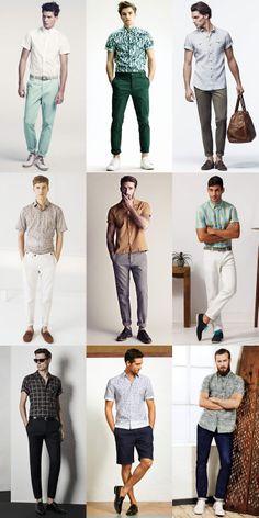 Menswear Summer Alternatives: Oxford Shirt To Short Sleeve Shirts Lookbook Inspiration