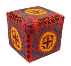 One Of A Kind Suzani Ottomans - Home Brands USA
