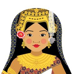 Cambodian Girl Matryoshka 5x7 Art Print by AmyPerrotti on Etsy, $9.00. Fun to decorate my daughter's room a la the small world.