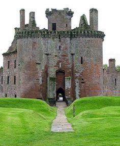 Caerlaverock Castle ruins - near Dumfries, Scotland.