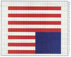 Free American Flag Graph Pattern For Crochet Work
