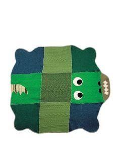 36% OFF Cate & Levi Crocodile Baby Blanket, Green/Blue