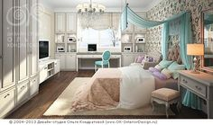 3D дизайн бирюзовой спальни - http://www.ok-interiordesign.ru/ph18_bedroom_interior_design.php