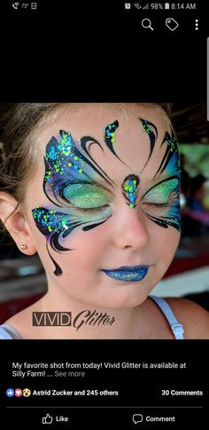 Fabelhafter Schmetterling - Famous Last Words Butterfly Face Paint, Butterfly Makeup, Face Paint Makeup, Eye Makeup Art, Makeup Eyes, Face Painting Tutorials, Face Painting Designs, Fashing Make Up, Butterfly Halloween