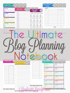 The Ultimate Blog Planning Notebook | LambertsLately.com