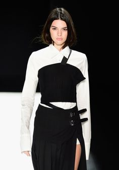 Kendall Jenner walks the runway wearing Vera Wang Collection Fall 2016 during New York Fashion Week: The Shows at The Arc, Skylight at Moynihan Station on February 16, 2016 i