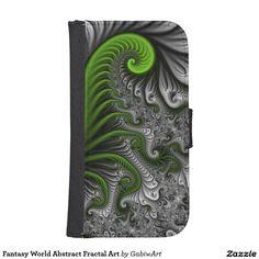 Fantasy World Abstract Fractal Art Galaxy S4 Wallet Case