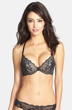 Calvin Klein lace underwire pushup at Nordstrom