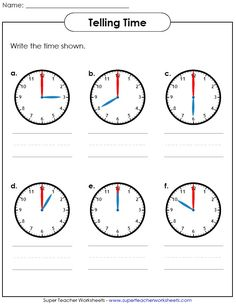 Worksheets Teaching Worksheets we worksheets and the ojays on pinterest help your students learn how to tell time visit super teacher view our