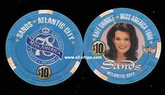 #AtlanticCityCasinoChip of the day is a $10 Sands Miss America Kate Shindle you can get here https://www.all-chips.com/ChipDetail.php?ChipID=5584 #CasinoChip #AtlanticCity #MissAmerica