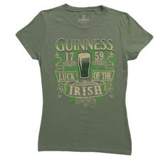 Women's Guinness Luck of the Irish tee!