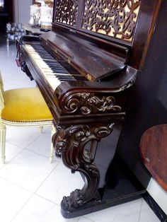Piano droit Steinway & Sons année 1862