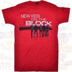 6e3b02a63 NEW KIDS ON THE BLOCK NKOTB RED COTTON AUTHENTIC MERCHANDISE T-SHIRT  #NewKidsOnTheBlock #