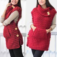 Fabulous Crochet a Little Black Crochet Dress Ideas. Georgeous Crochet a Little Black Crochet Dress Ideas. T-shirt Au Crochet, Cardigan Au Crochet, Patron Crochet, Pull Crochet, Black Crochet Dress, Crochet Poncho Patterns, Crochet Coat, Crochet Shirt, Crochet Clothes