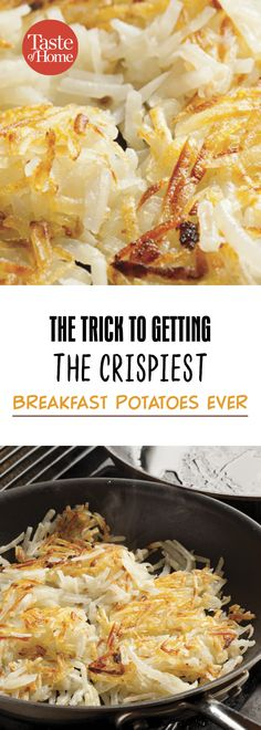 The Trick to Getting the Crispiest Breakfast Potatoes Ever Healthy Breakfast Potatoes, Breakfast Potato Recipes, Eat Breakfast, Breakfast Dishes, Brunch Recipes, Breakfast Potato Casserole, Dinner Recipes, Brunch Ideas, Breakfast Options