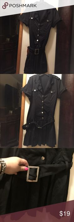 Very beautiful black dress from italy Like new sexy and trendy can fit m and l Dresses Midi