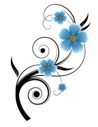 i'd like a forget me not tattoo in memory of all the loved ones ive lost