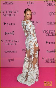 adriana lima alessandra ambrosio victoria secret fashion show after party 01 Adriana Lima shows off her midriff while hitting the 2014 Victoria's Secret Fashion Show After Party held at Earls Court Exhibition Centre on Tuesday (December…