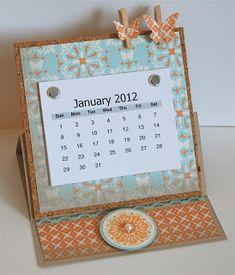 Mama Mo Stamps: 2012 Easel Calendar