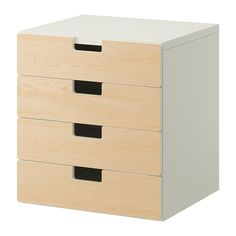 IKEA - STUVA, Storage combination with drawers, white/birch, , Low storage makes it easier for children to reach and organize their things.Make your storage combination more personal by combining several doors and drawer fronts in different colors.Stands evenly on an uneven floor; adjustable feet included.