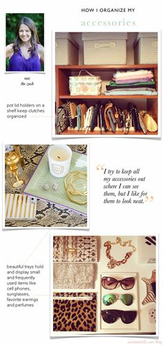 How Sue Organizes Her Accessories // How I Organize guest series on Arianna Belle Blog