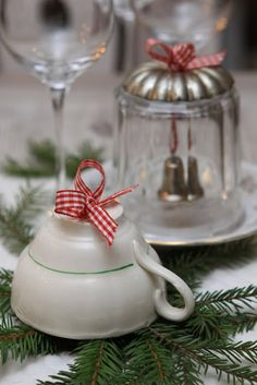 Delightful tea cup Christmas ornament. -Top 20 of The Most Magnificent DIY Christmas Decoration Ideas