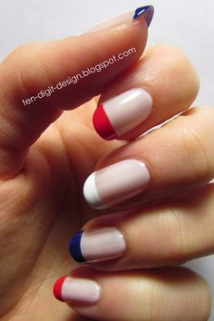 Ten Digit Design: Veterans' Day French Tips